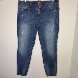 TORRID Distressed High Waist Jeans